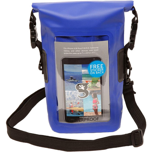 Geckobrands Waterproof Phone Tote Dry Bag w/Strap