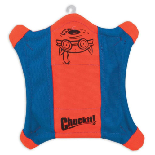 Chuckit Flying Squirrel Orange / Blue Dog Toy, Medium