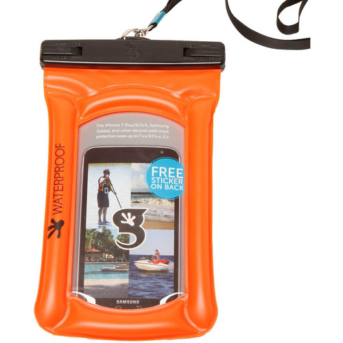 Geckobrands Waterproof Float Phone Bag- Orange