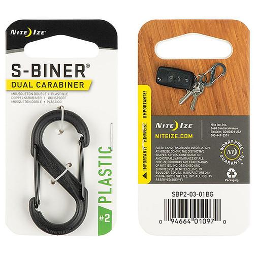 NITE IZE S-Biner Plastic Dual Carabiner #2 Black