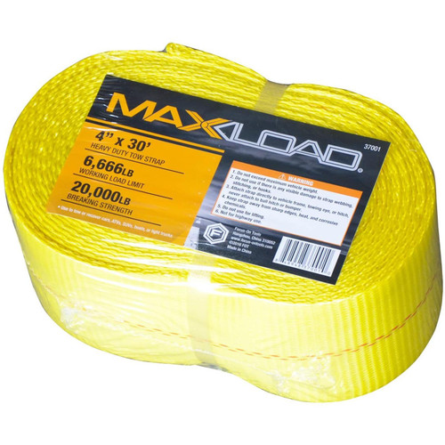 "Max Load 37001.0 4"" X30 ft Tow Strap (4in x 30ft)"
