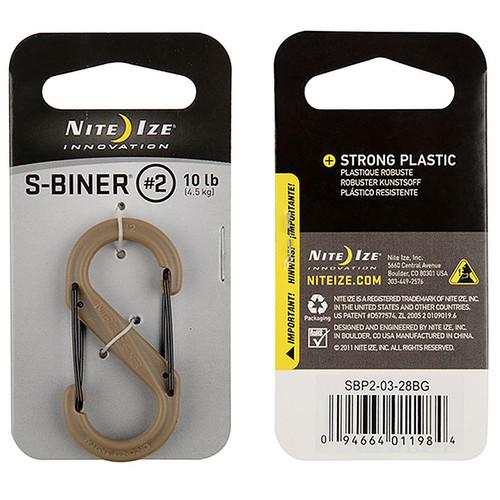 NITE IZE S-Biner Plastic Dual Carabiner #2 Coyote
