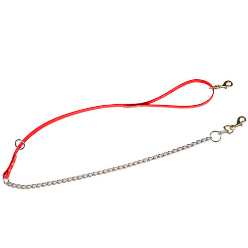 "Dayglo 3/4"" Tree Lead With Chain Red 5' Length"