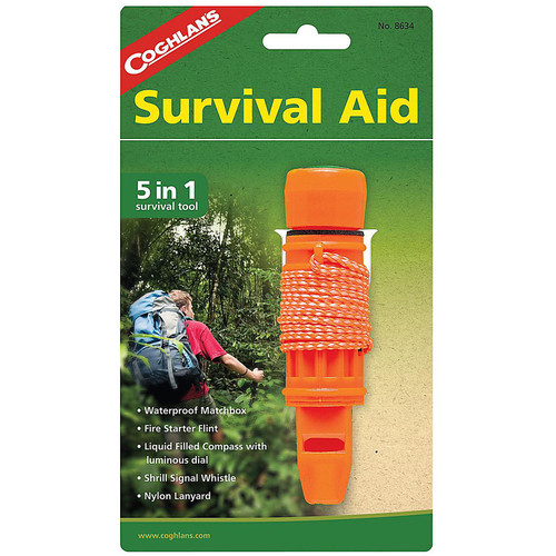 Coghlans Survival Aid Kit - 5-in-1