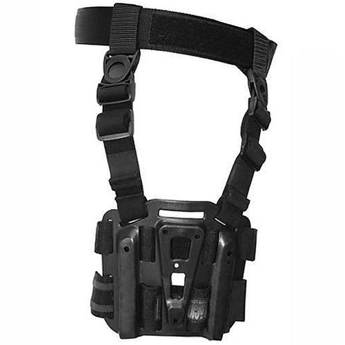 Blackhawk 432000PBK Serpa CQC Tact Drop Leg Holster Platform With Rails Black