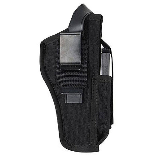 "Blackhawk 40AM03BK Hip holster with mag pouch Black large auto 4.5""-5"" AMBI"