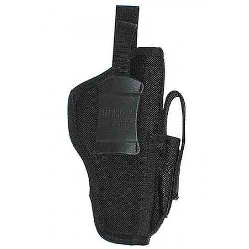 Blackhawk 40AM02BK Hip Holster 3-4' Med/Lrg Revolvers Black AMBI
