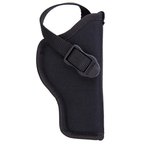 "Blackhawk 73NH12BK-R Hip Holster With Retention Strap 3.5""-5"" Single Action Revolver Black RH"