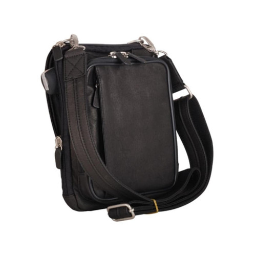 "Gun Tote'n Mamas GTM-99/BK Raven Cross Body Concealed Carry Purse 7.5""x9.25""x2.25"" Black AMBI"