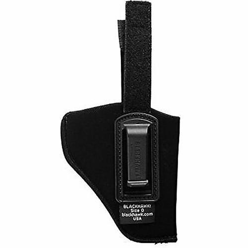 """Blackhawk 73IR00BK-R ISP Holster With Retention Strap 2""""-3"""" Barrel Small/Med Revolver Black RH"""