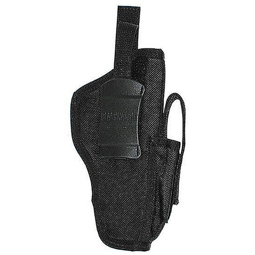 "Blackhawk 40AM01BK Hip Holster w/Mag 3""-4"" med Auto Black AMBI"