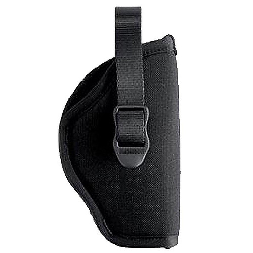 "Blackhawk 73NH06BK-R Hip Holster With Retention Strap 3""-4"" Med Auto Black RH"