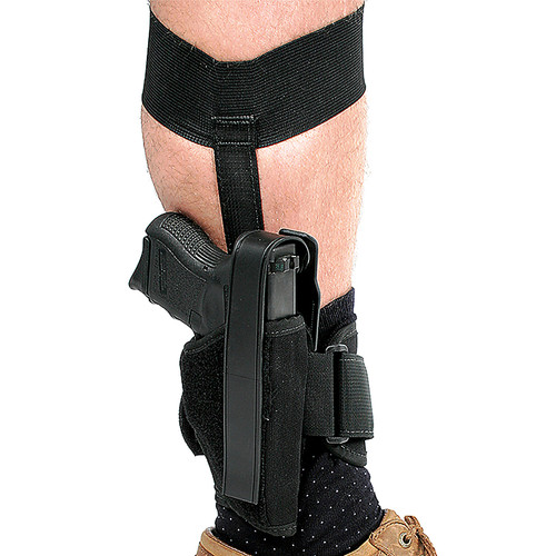 Blackhawk 40AH12BK-R Ankle Holster Black Glock 26 27 33 Compact 9mm/.40 RH