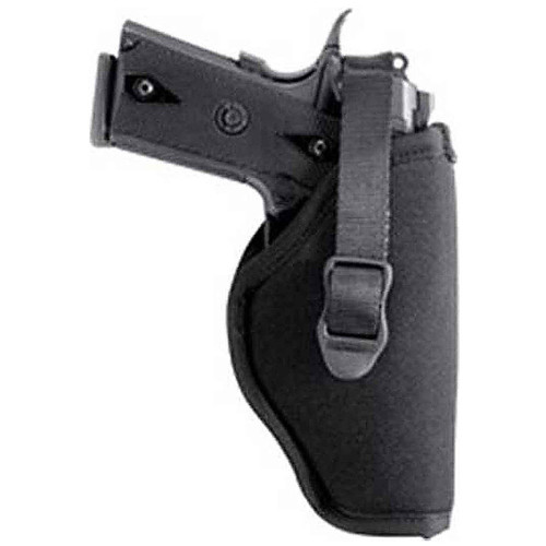 "Blackhawk 73NH08BK-R Hip Holster With Retention Strap 3.25""-3.75"" Med/Large Autos Black RH"