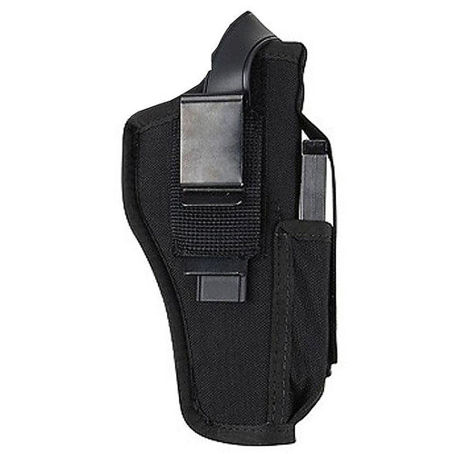 "Blackhawk 40AM05BK Hip Holster w/Mag 3.75""-4.5"" Large Auto Black AMBI"