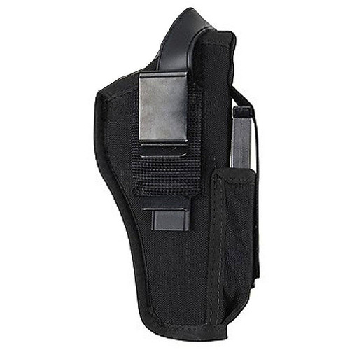 "Blackhawk 40AM06BK Hip Holster w/Mag 3.25""-3.75"" Large Auto Black AMBI"