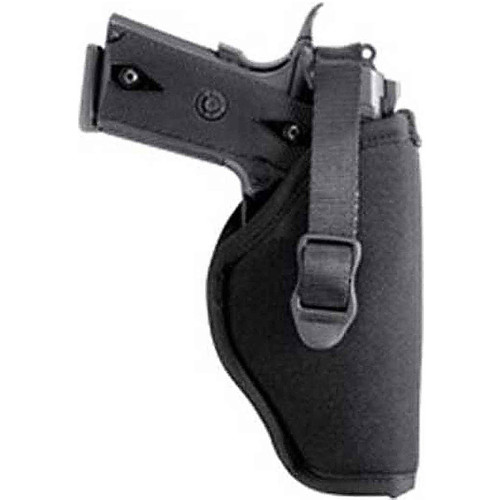 "Blackhawk 73NH07BK-R Hip Holster With Retention Strap 3.5""-4.5"" Large Autos Open End Black RH"