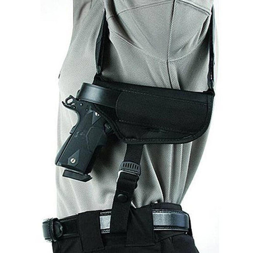 "Blackhawk 40HS15BK-MD Shoulder Holster Horzl 3.75"" - 4.5"" Large AMBI"