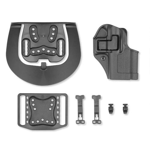 Blackhawk 410568BK-R Serpa CQC Holster w/ Paddle Matte Finish Glock 43 Black RH