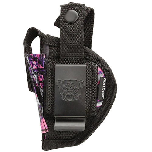 "Bulldog Cases FSN-1MDG Hip Holster With Retention Strap and Magazine Pouch 5.2""x8.6""x1.9"" Muddy Girl Pink Camo AMBI"