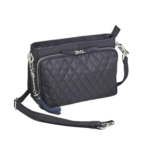 """Gun Tote'n Mamas GTM/QMF-22 Quilted Concealed Carry Shoulder Clutch 10.5""""x8""""x4"""" Black AMBI"""
