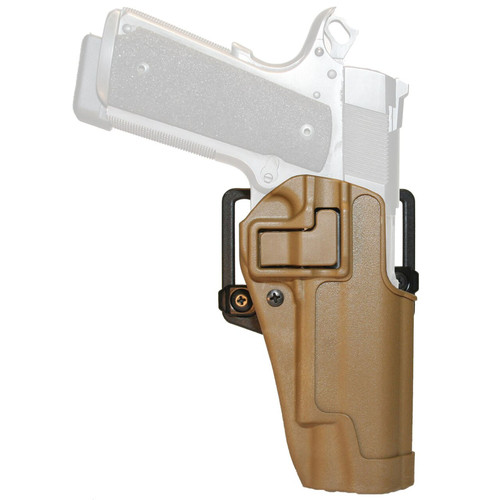 Blackhawk 410503CT-R Serpa CQC Holster w/ Paddle Matte Finish Colt 1911 Coyote Tan RH