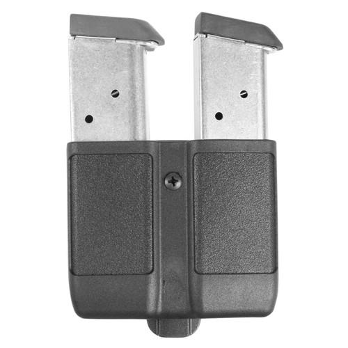 Blackhawk 410510PBK Double Mag Case 9mm/10mm/40S & W/45ACP Single Stack Polymer Black