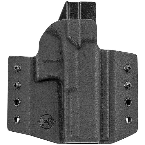 C&G Holsters 000-100 Covert OWB Kydex Black RH