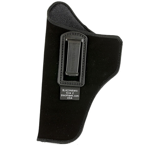 "Blackhawk 73IP02BK-L ISP Holster With Clip 4"" Barrel Med/Inter Double Action Revolver Black LH"