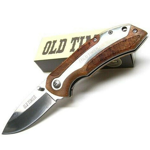 Old Timer 901OT 7.32in High Carbon Assisted Opening Knife With Clam Shell