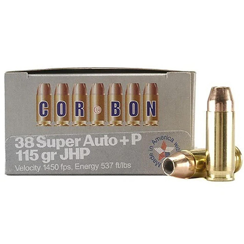 Cor-Bon Self Defense 38 Super+P 115GR JHP 20 Rounds