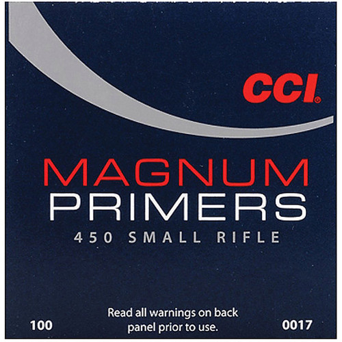 CCI 450 MAG SMALL RIFLE PRIMER 100 CT