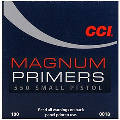 CCI 550 MAG SMALL PISTOL PRIMER 100 CT