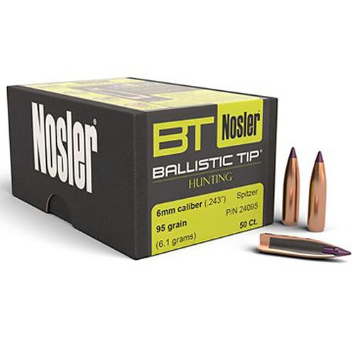 NOSLER 24095 6MM 95GR BALLISTIC TIP 50 CT.