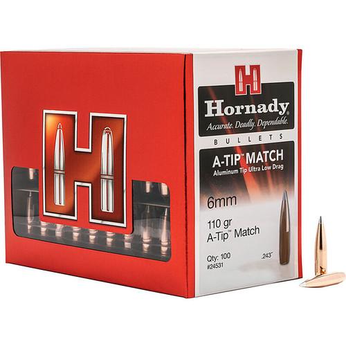 HORNADY 24531 6MM .243 110 GR A-TIP MATCH 100 CT.