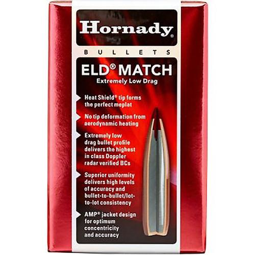HORNADY 26175 6.5MM .264 120 GR ELD? MATCH 100 CT.