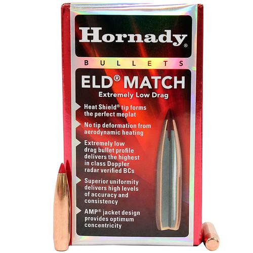 HORNADY 26177 6.5MM .264 130 GR ELD MATCH 100 CT.
