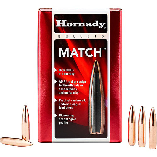 HORNADY 26335 6.5MM .264 140 GR BTHP MATCH 100 CT.