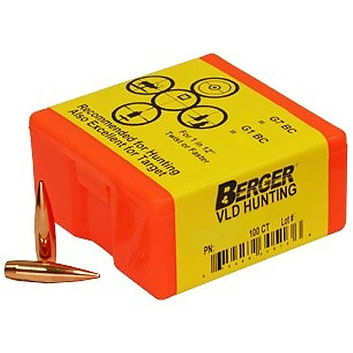 BERGER 26503 6.5MM 130GR VLD HUNTING 100 CT.