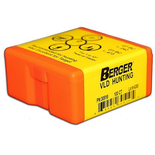 BERGER 26504 6.5MM 140GR VLD HUNTING 100 CT.