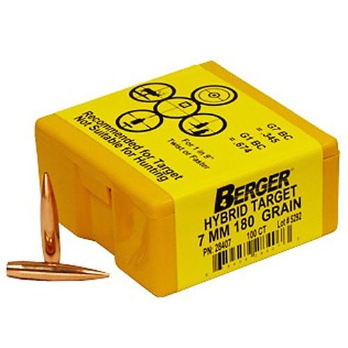 BERGER 28407 7MM 180GR HYBRID TARGET 100 CT.
