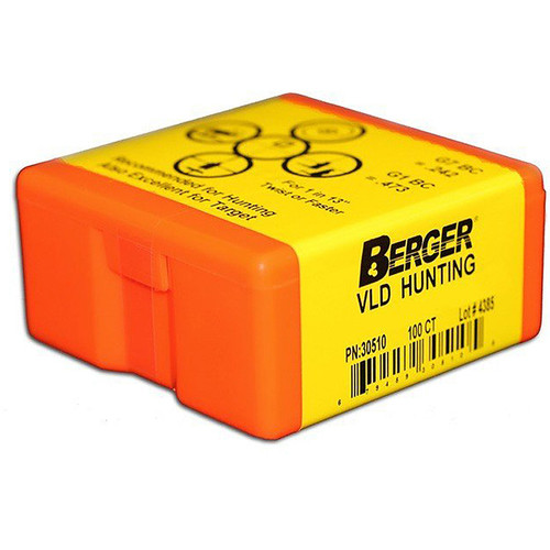 BERGER 28501 7MM 168GR VLD HUNTING 100 CT.