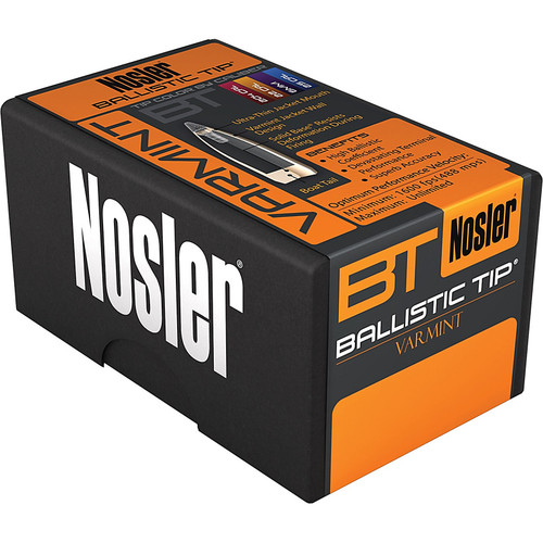 NOSLER 39526 22CAL 55GR BALLISTIC TIP 100 CT.