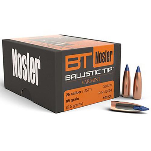 NOSLER 43004 25CAL 85GR BALLISTIC TIP 100 CT.