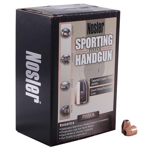 Nosler Sporting Handgun Bullets 40 S&W, 10mm Auto (400 Diameter) 150 Grain Jacketed Hollow Point Box of 250