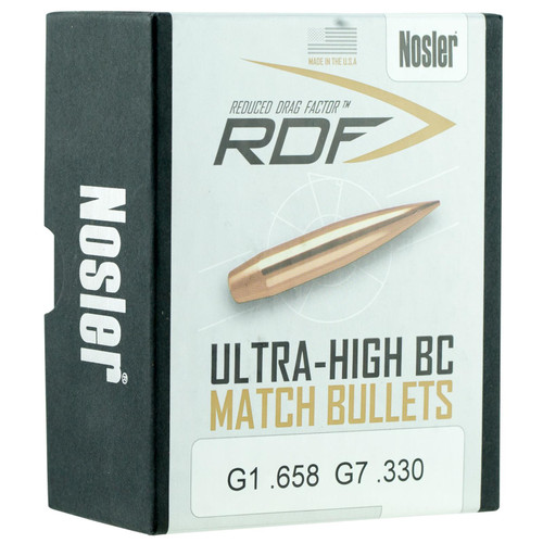 Nosler 49824 RDF 6.5mm .264 140 gr Hollow Point Boat Tail (HPBT) 100