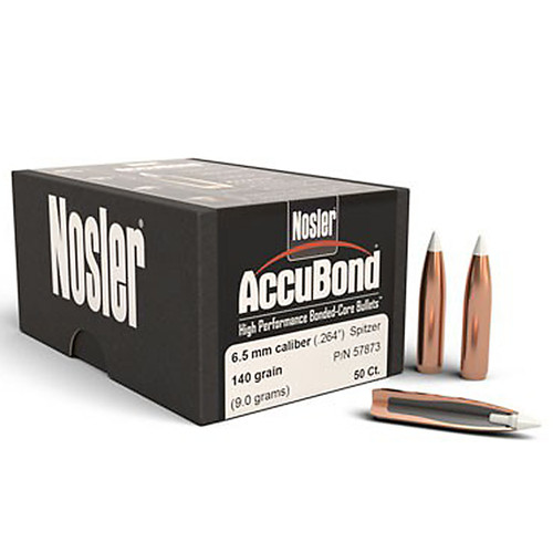 NOSLER 57873 6.5MM 140GR ACCUBOND 50 CT.
