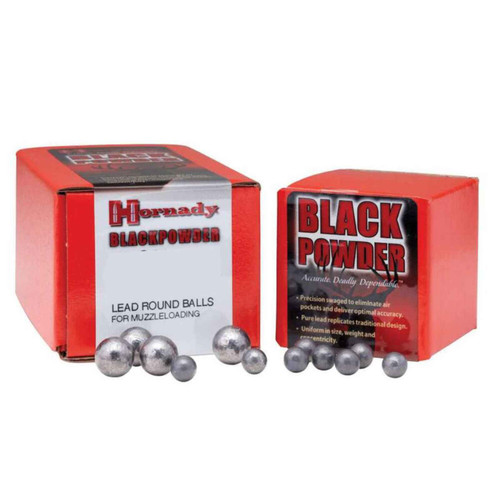 Hornady Black Powder Muzzleloading Projectiles Lead Round Ball .44Cal 100Ct 6060