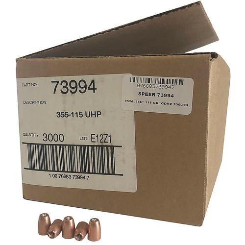SPEER 73992 9MM .355'' 90 GR. GDHP 3800 CT. BULK CASE