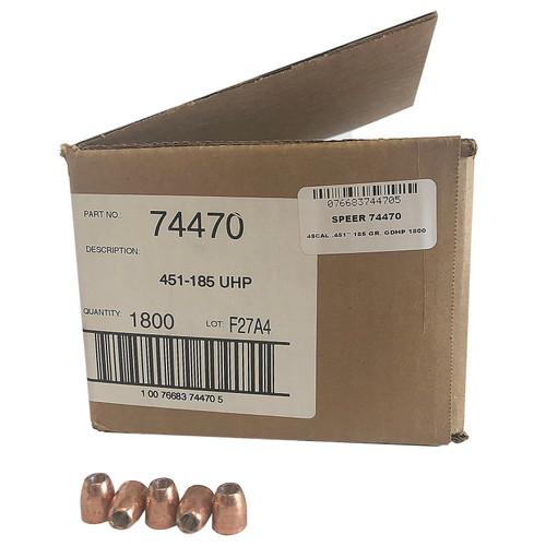 SPEER 74470 45 CAL. .451'' 185 GR. GDHP 1800 CT. BULK CASE